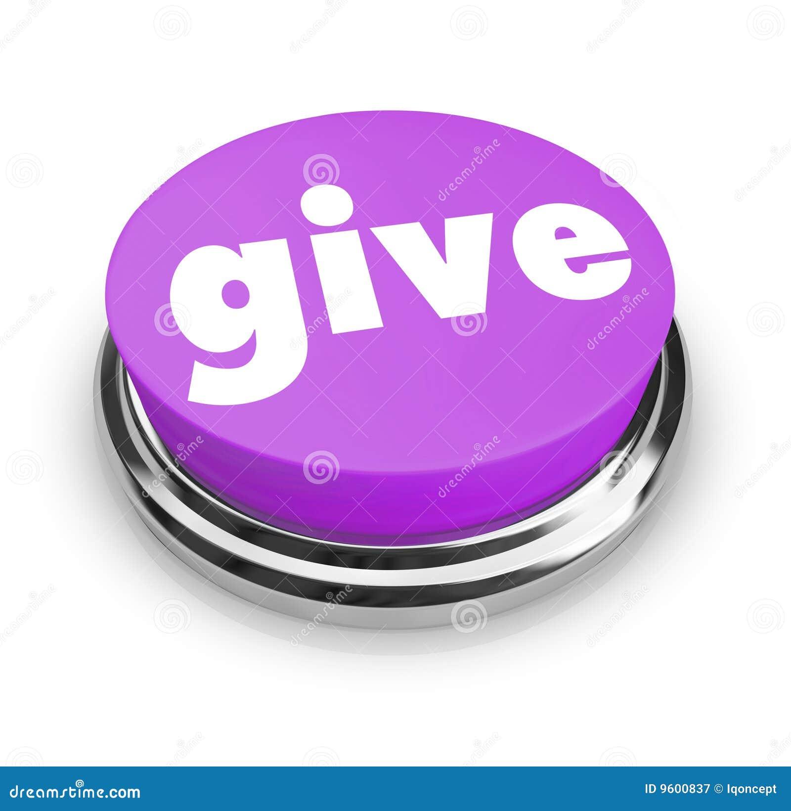 Dé - el botón de la caridad