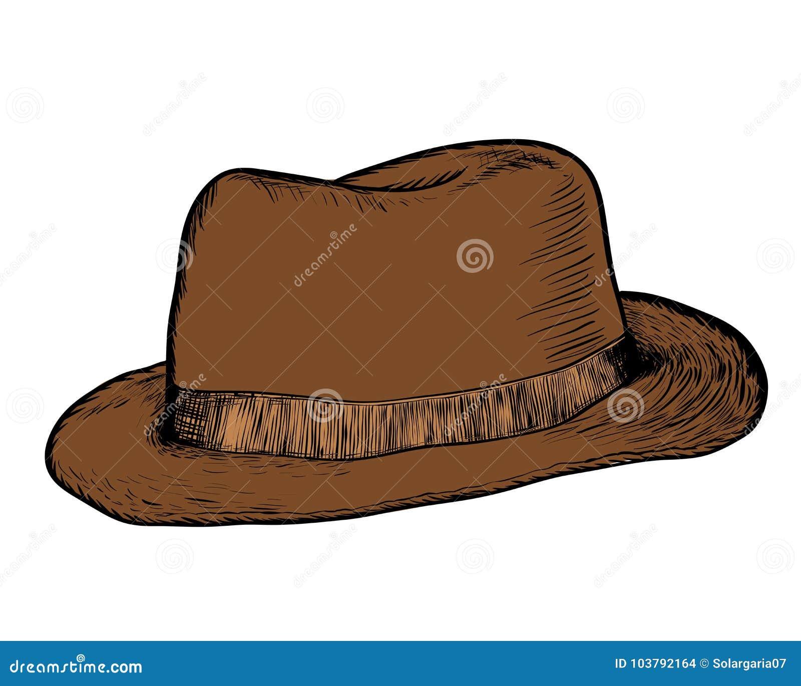Dé El Dibujo Del Vaquero Hat - Vector El Ejemplo Dibujado Mano ... b2460b3bcfa