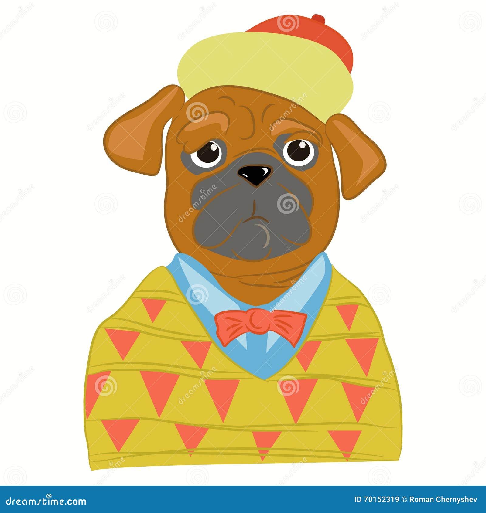 Dé el ejemplo exhausto del hombre del perro del barro amasado vestido para arriba adentro en ropa fresca Inconformista del perrit