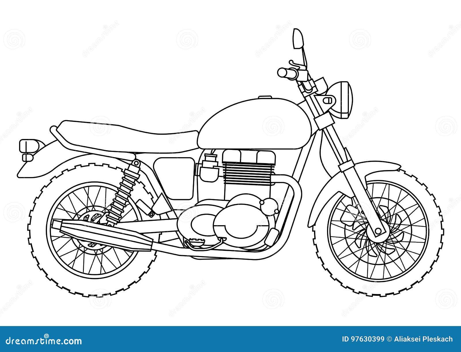 Dé El Estilo Del Drenaje De Un Nuevo Ejemplo De La Motocicleta Del ...