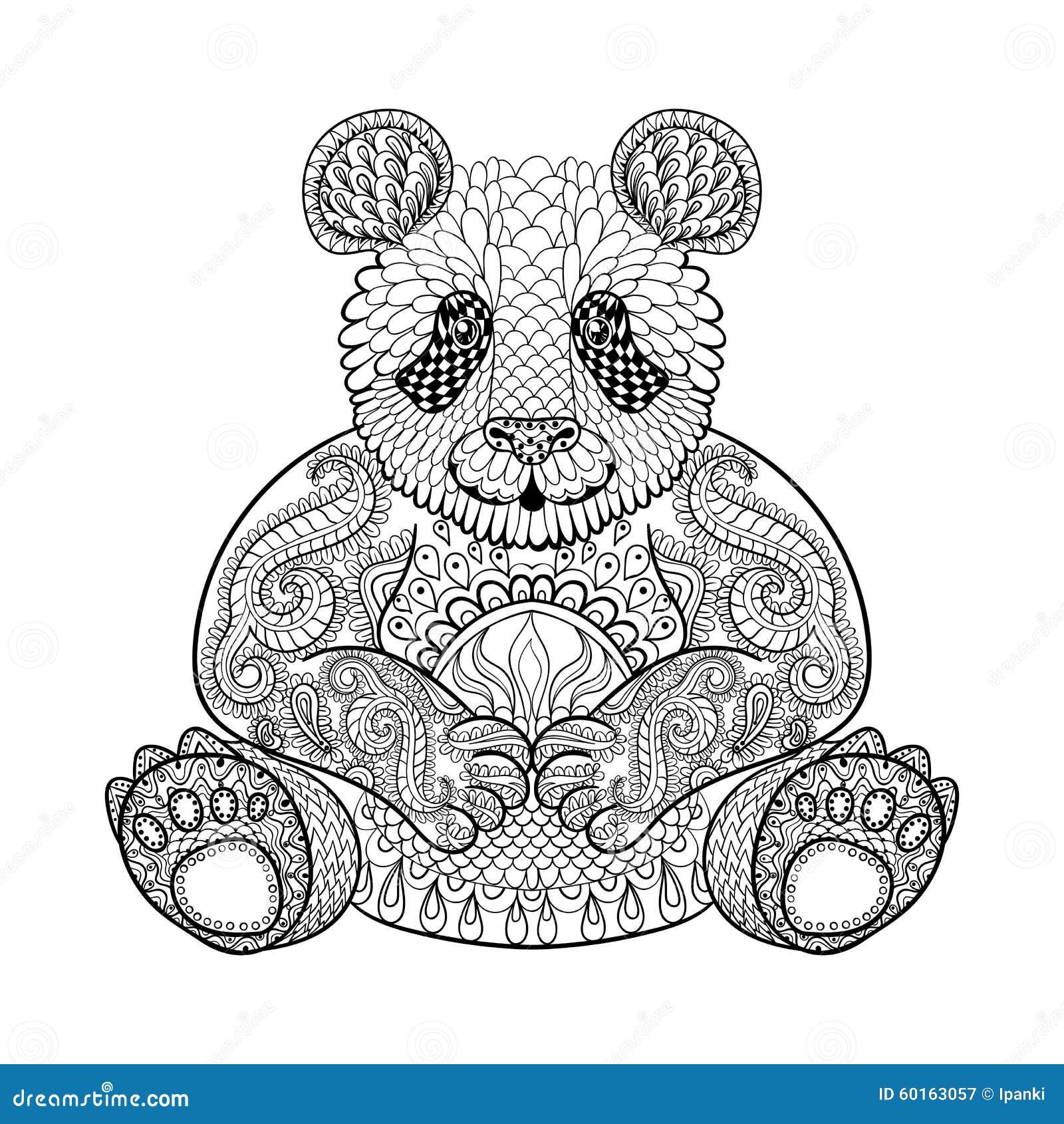 Dorable Página Para Colorear De Oso Panda Imagen - Enmarcado Para ...