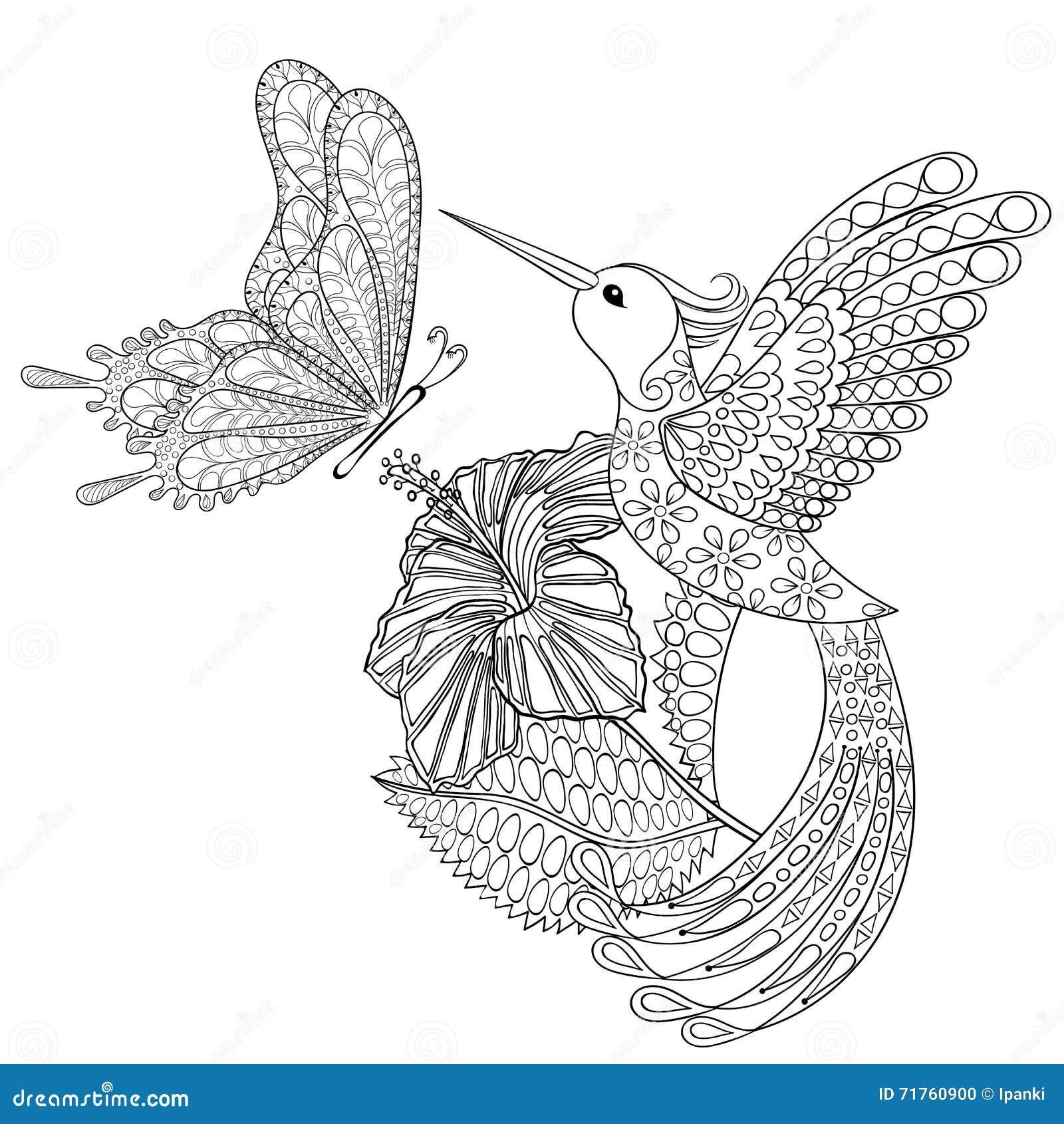 Dé A Zentangle Exhausto La Mariposa Tribal Del Vuelo