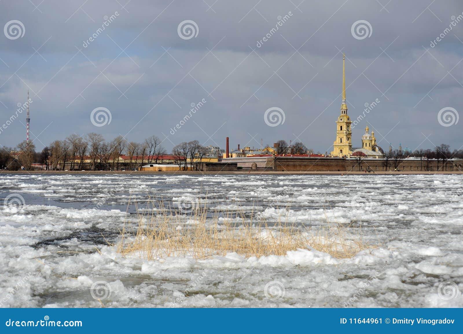 Débâcle sur le fleuve de Neva