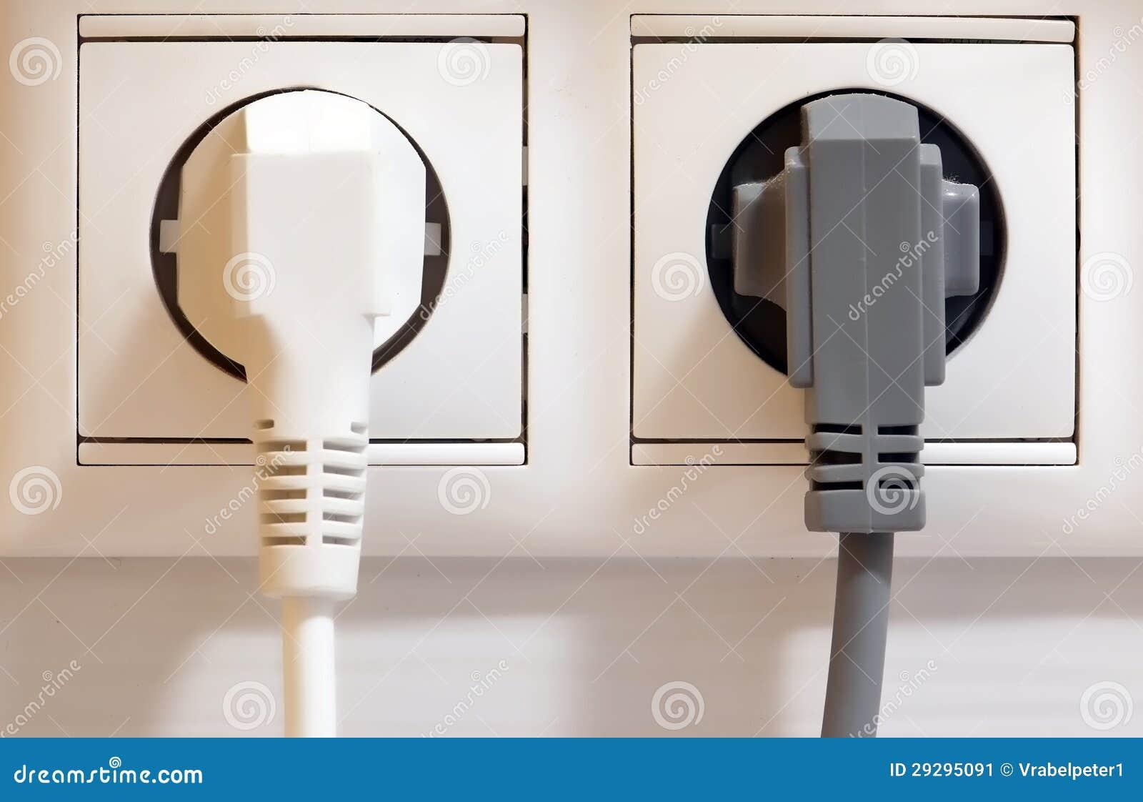 Débouché et fiches électriques