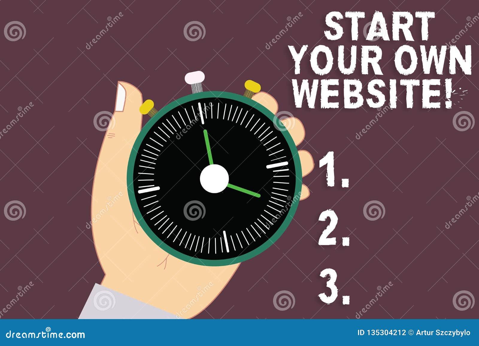 Debut Des Textes Decriture De Word Votre Propre Site Web Concept Daffaires Pour Le Servir Dextension Dune Carte Visite Professionnelle Une
