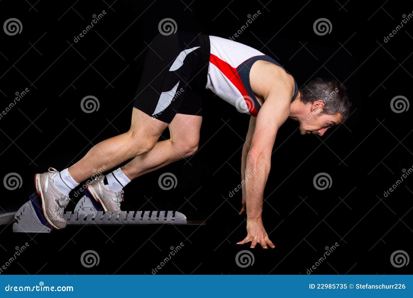 Début Sprinting d un athlète