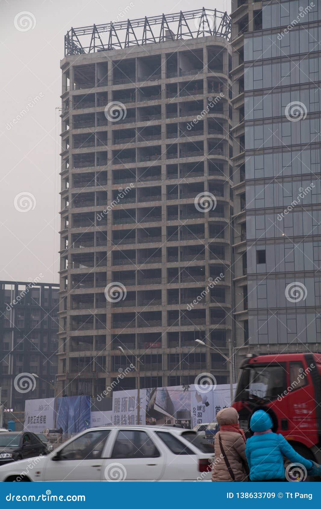 18 décembre 2014, Pékin Chine angle faible des bâtiments non finis