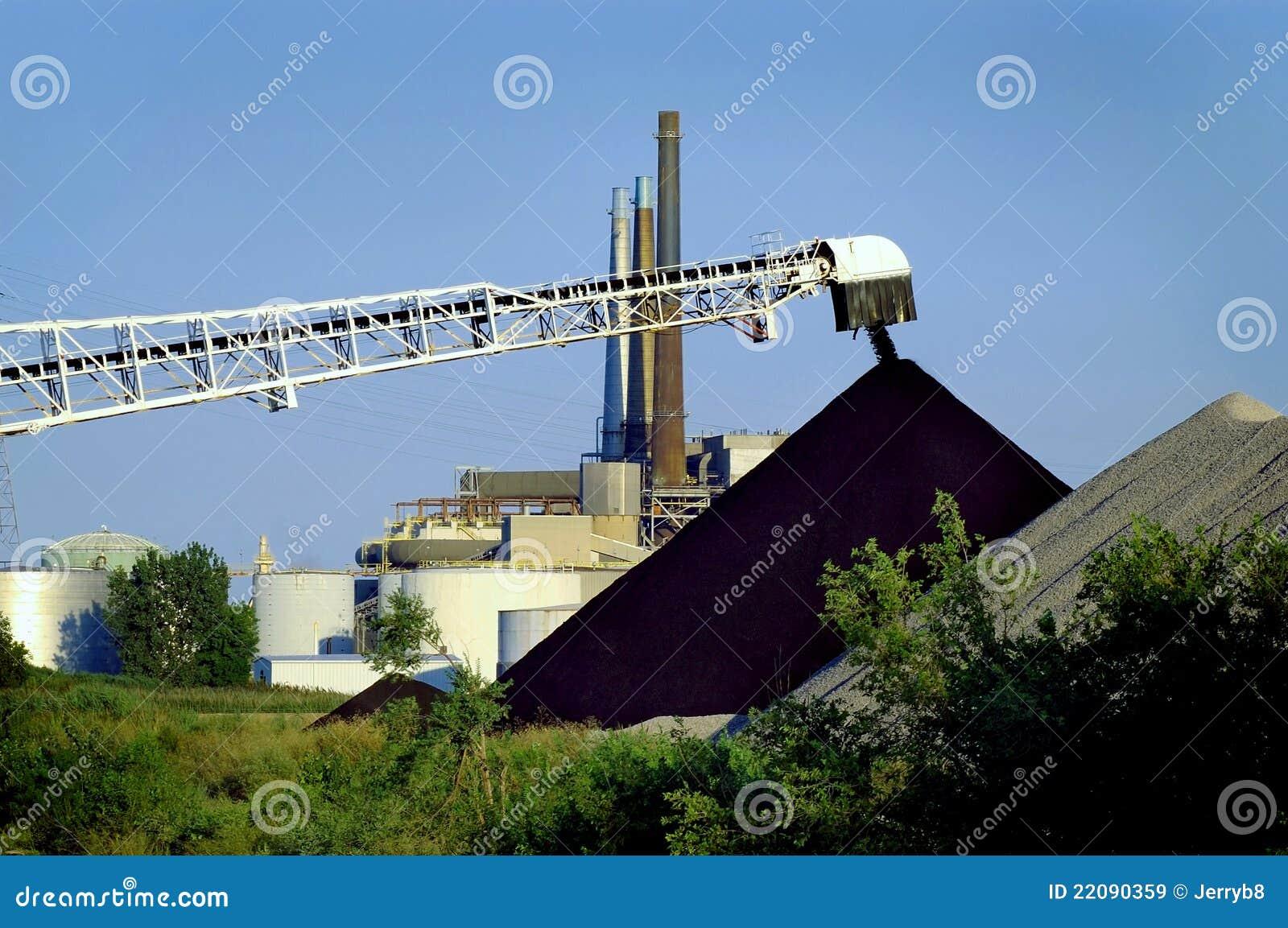 Déchargez l usine électrique de charbon
