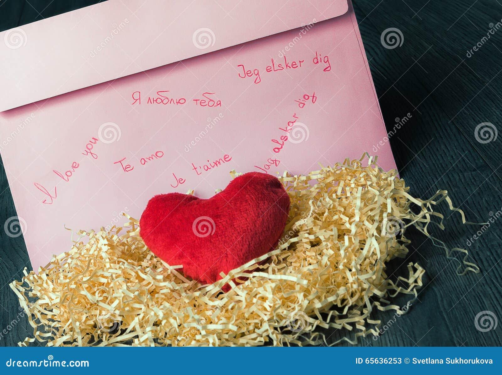 Déclaration écrite de l amour et du coeur