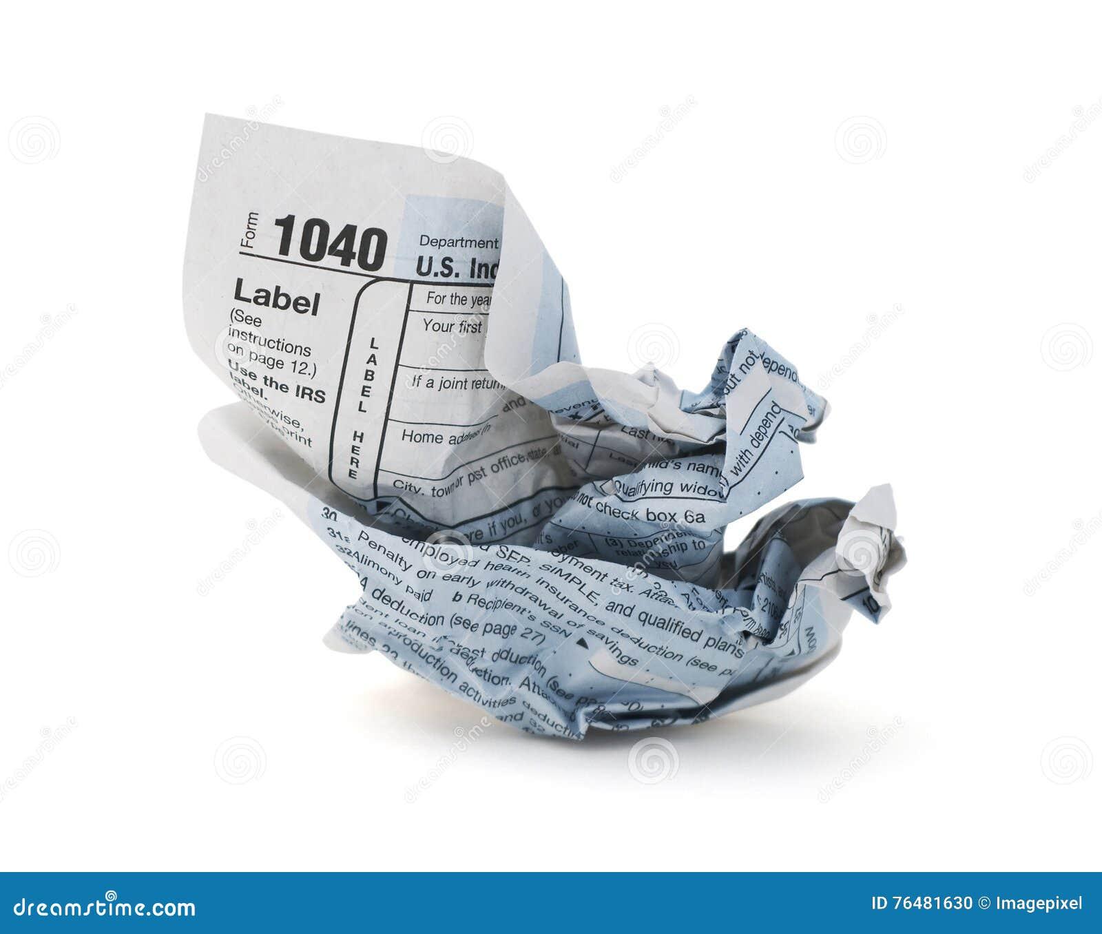 Déclaration d impôt chiffonnée