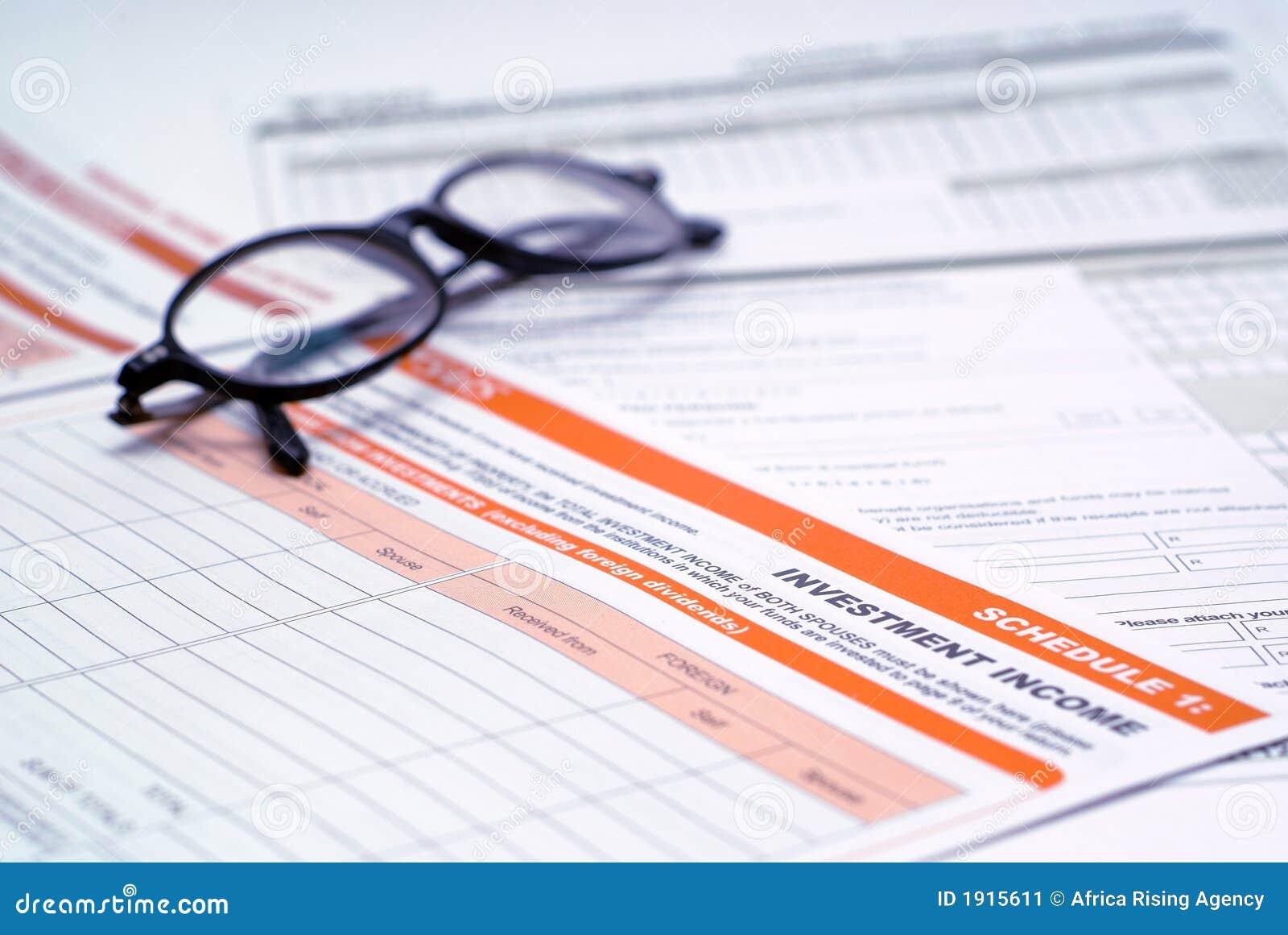 Déclaration et glaces d impôt d investissement