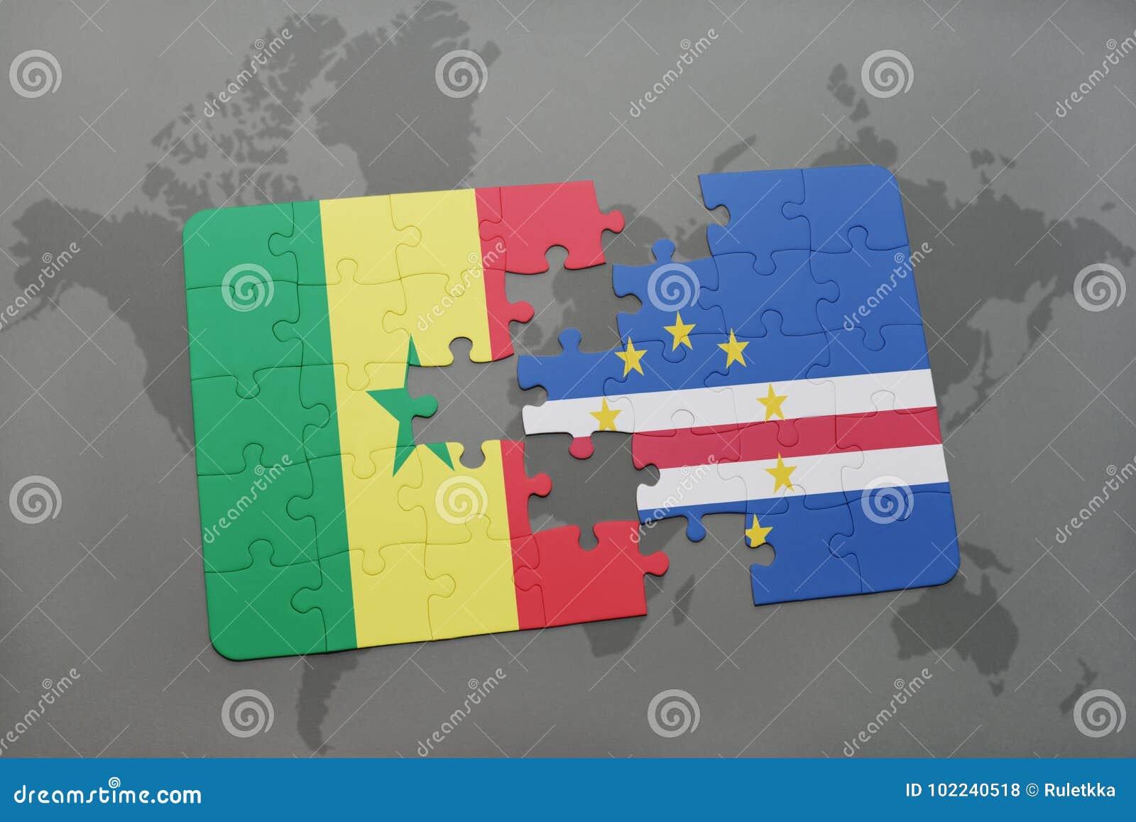Carte Senegal Cap Vert.Deconcertez Avec Le Drapeau National Du Senegal Et Du Cap