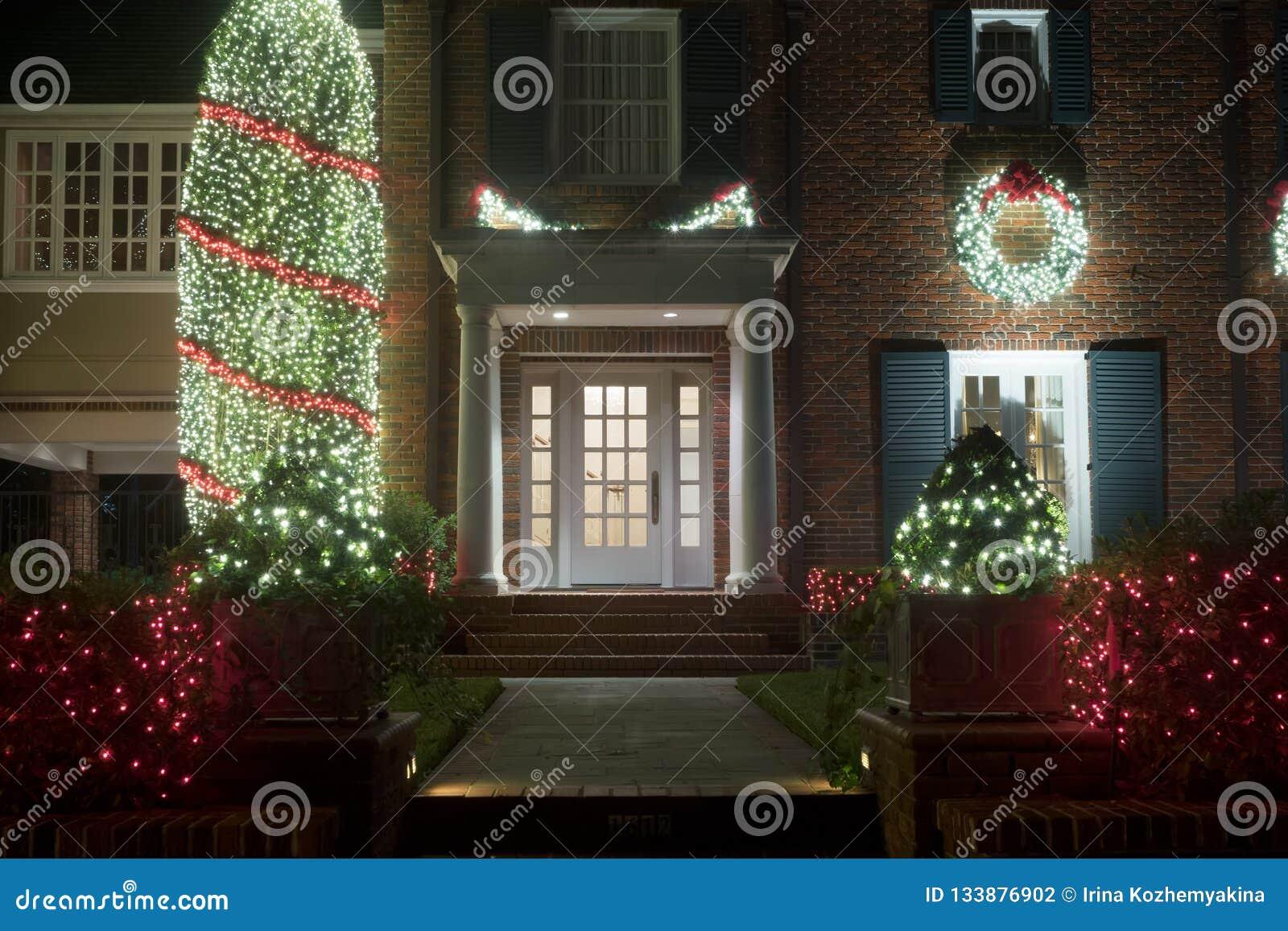 Décoré pour l entrée de maison de Noël Décor de Noël L hiver