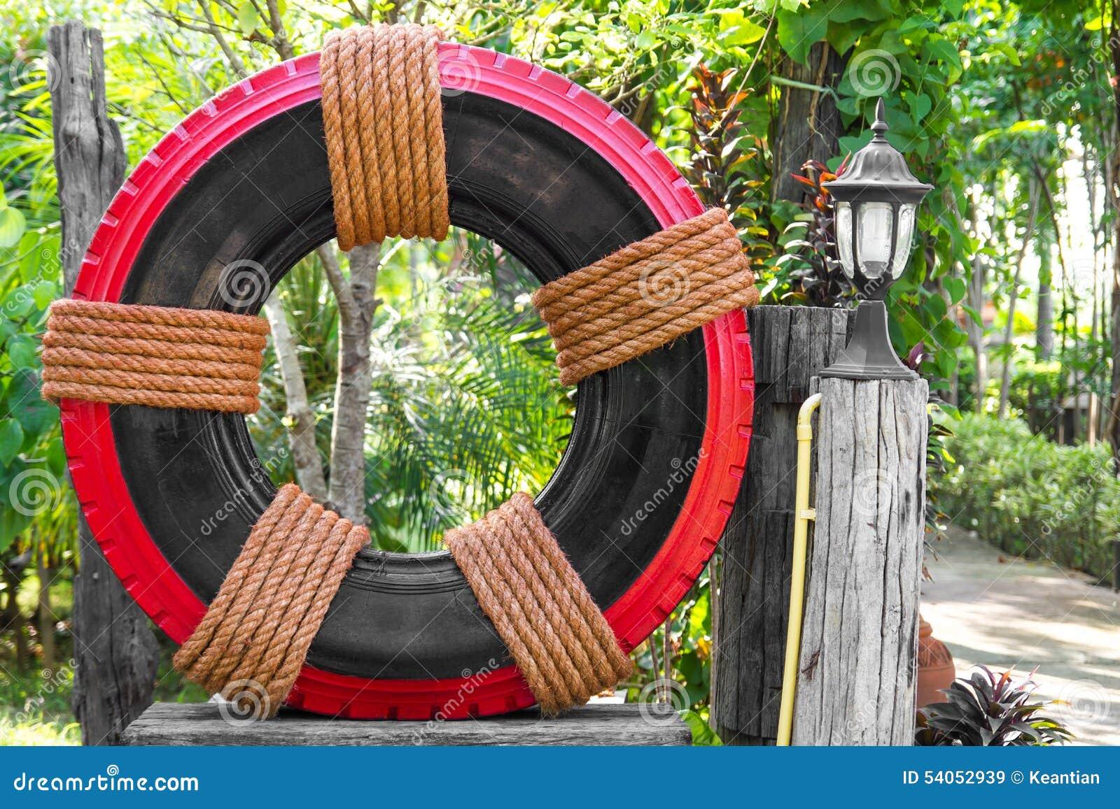 download dcor de jardin de pneu image stock image du fleur brun 54052939