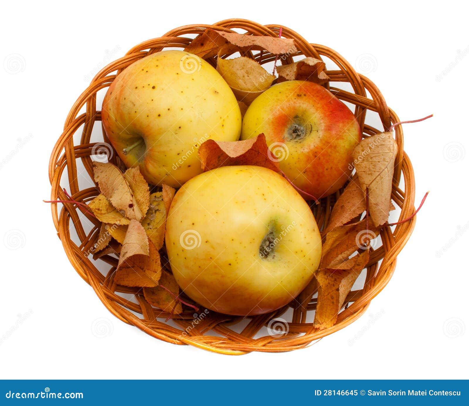 3 pommes dans un panier pommes dans un panier pommes dans un panier images libres de droits. Black Bedroom Furniture Sets. Home Design Ideas