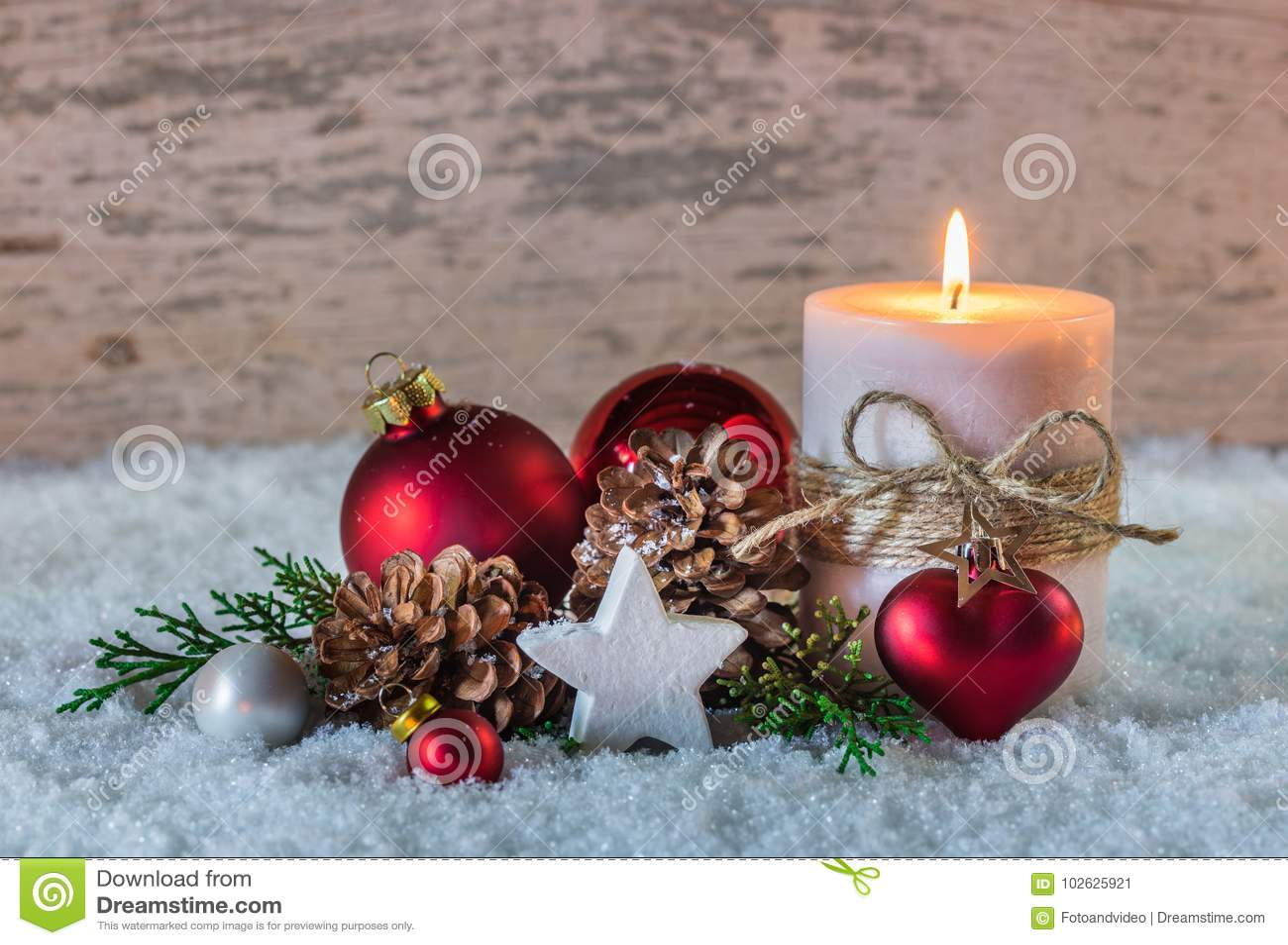 D coration d 39 hiver de c l bration de vacances de no l avec - Decoration coeur rouge ...