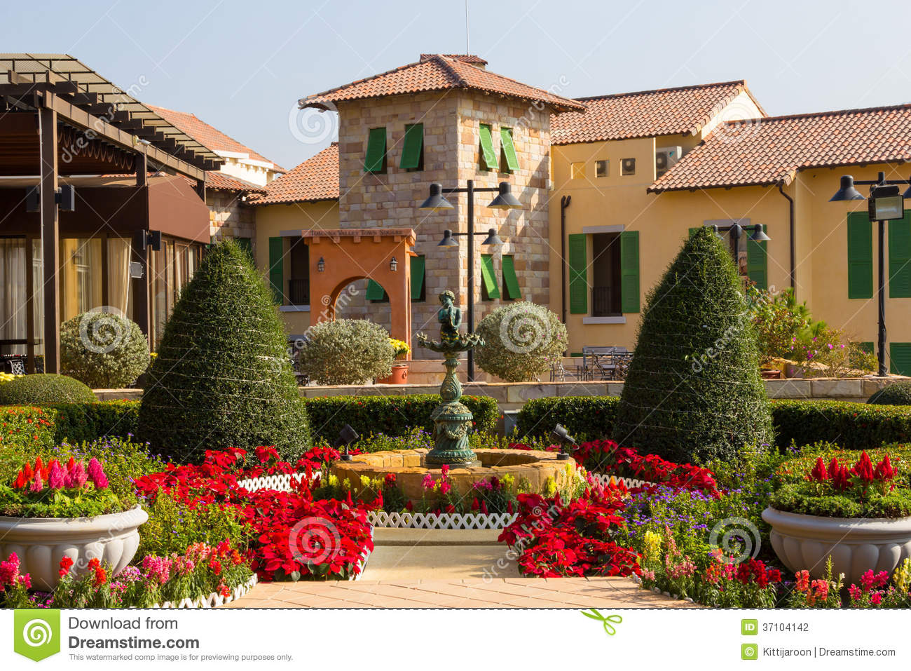 D coration de b timent de style de l 39 italie de jardin d for Decoration 31 decembre