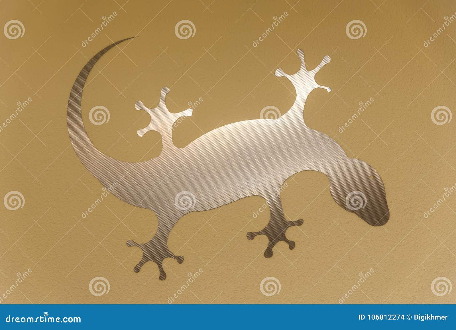 Décoration de gecko sur le mur