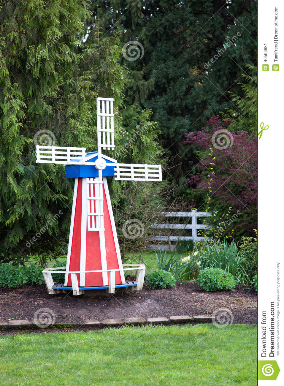 D coration de jardin de moulin vent photo stock image for Moulin en bois pour jardin