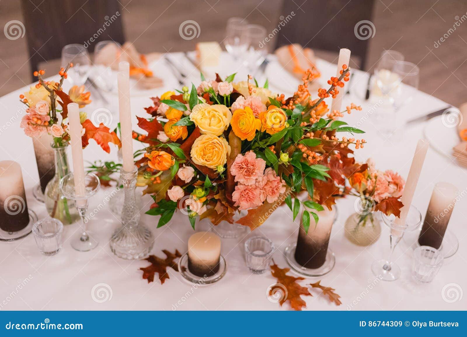 Decoration De Mariage Des Fleurs Fraiches Image Stock Image Du
