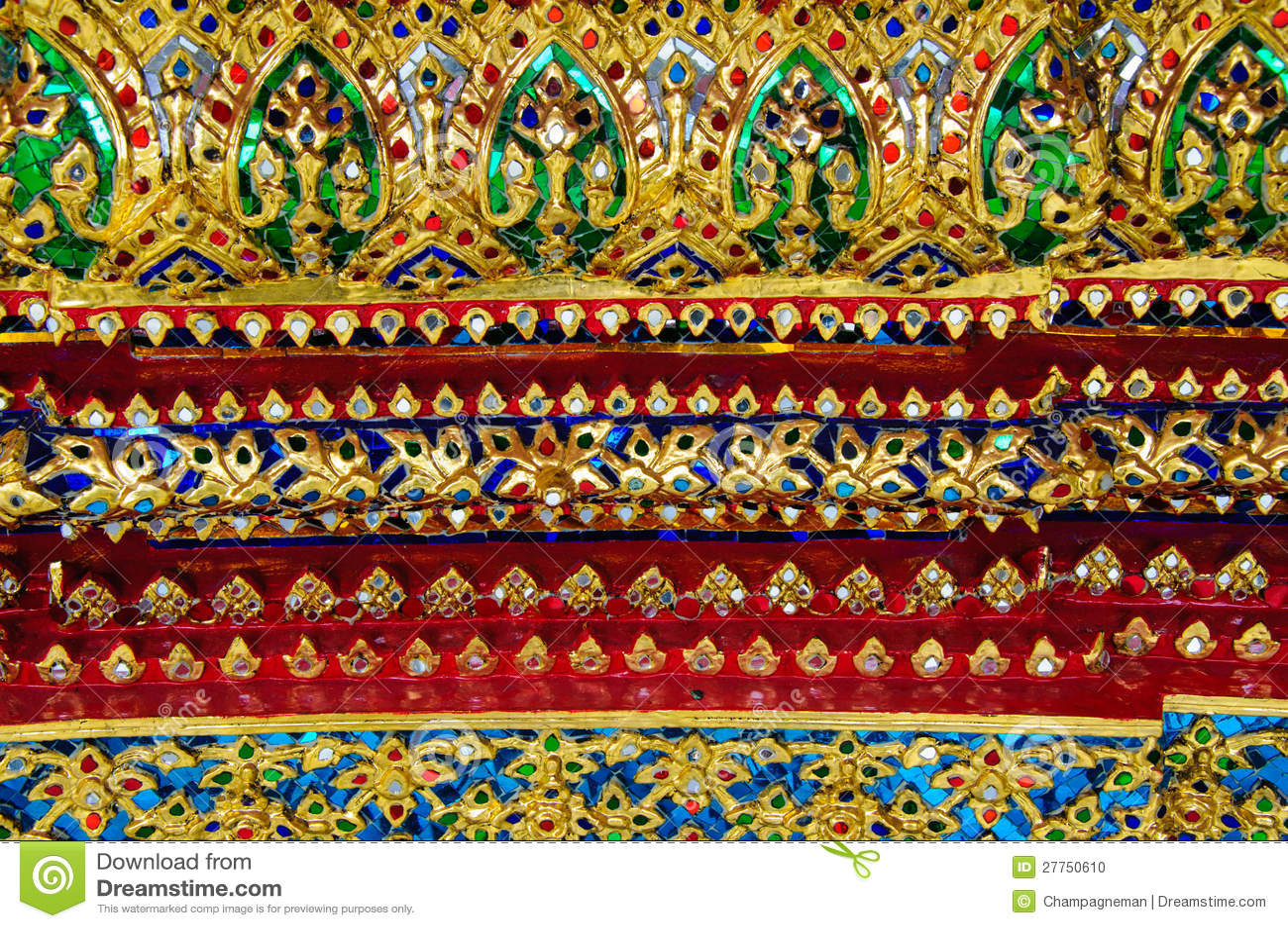 Décoration de miroir de type classique thaï