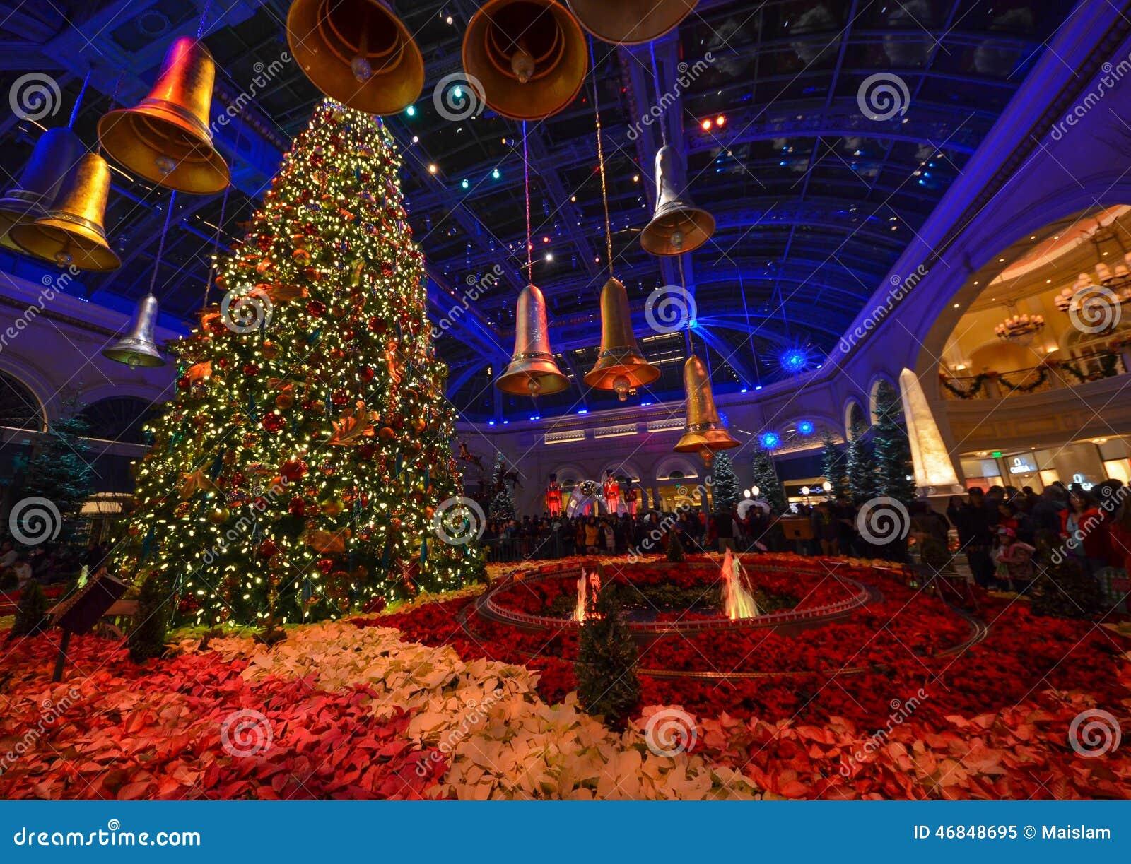 Deco De Noel Dans Le Jardin décoration de noël au conservatoire d'hôtel de bellagio et