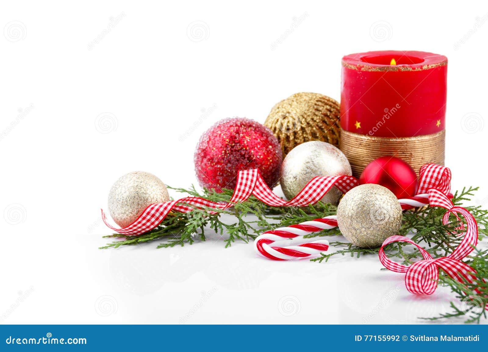 Décoration de Noël avec la bougie