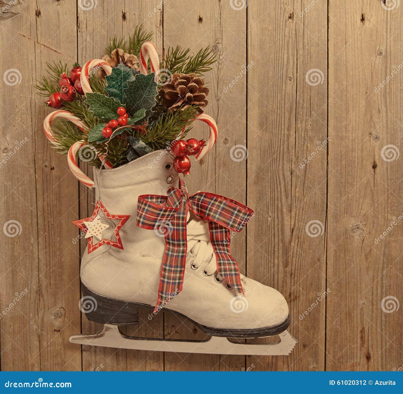 Décoration de Noël avec le patin