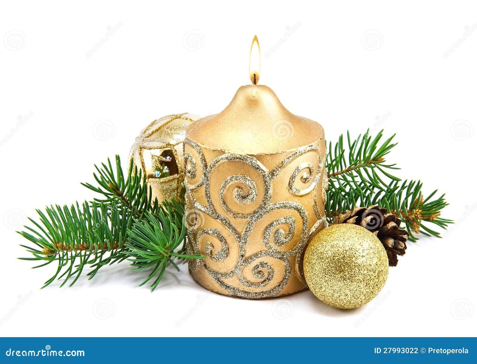 D coration de no l avec les bougies et l 39 arbre de sapin - Decoration avec des bougies ...