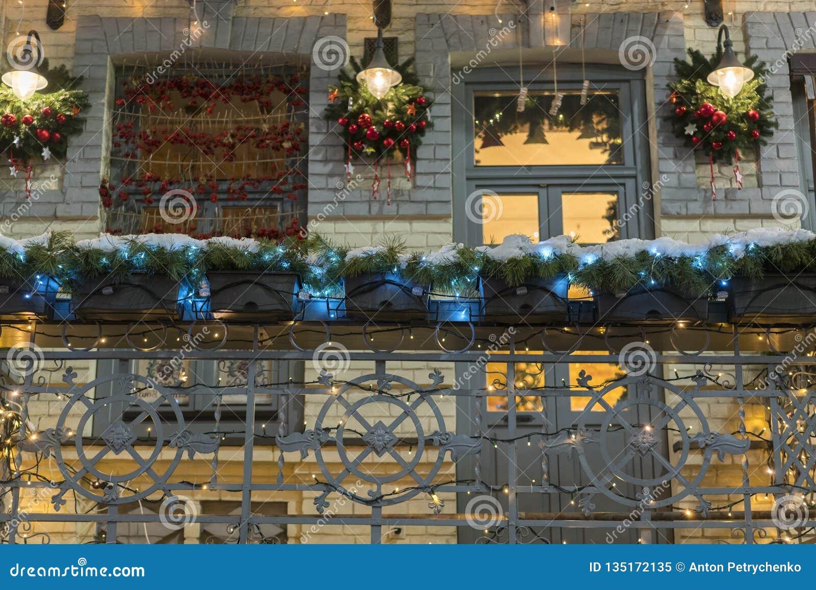 Decoration Balcon De Noel.Decoration De Noel De Balcon Chambre Decoree Pour Les