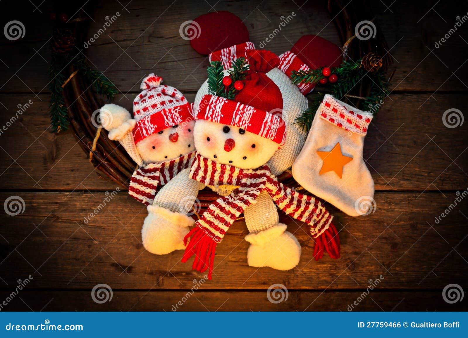 Décoration de Noël de bonhomme de neige