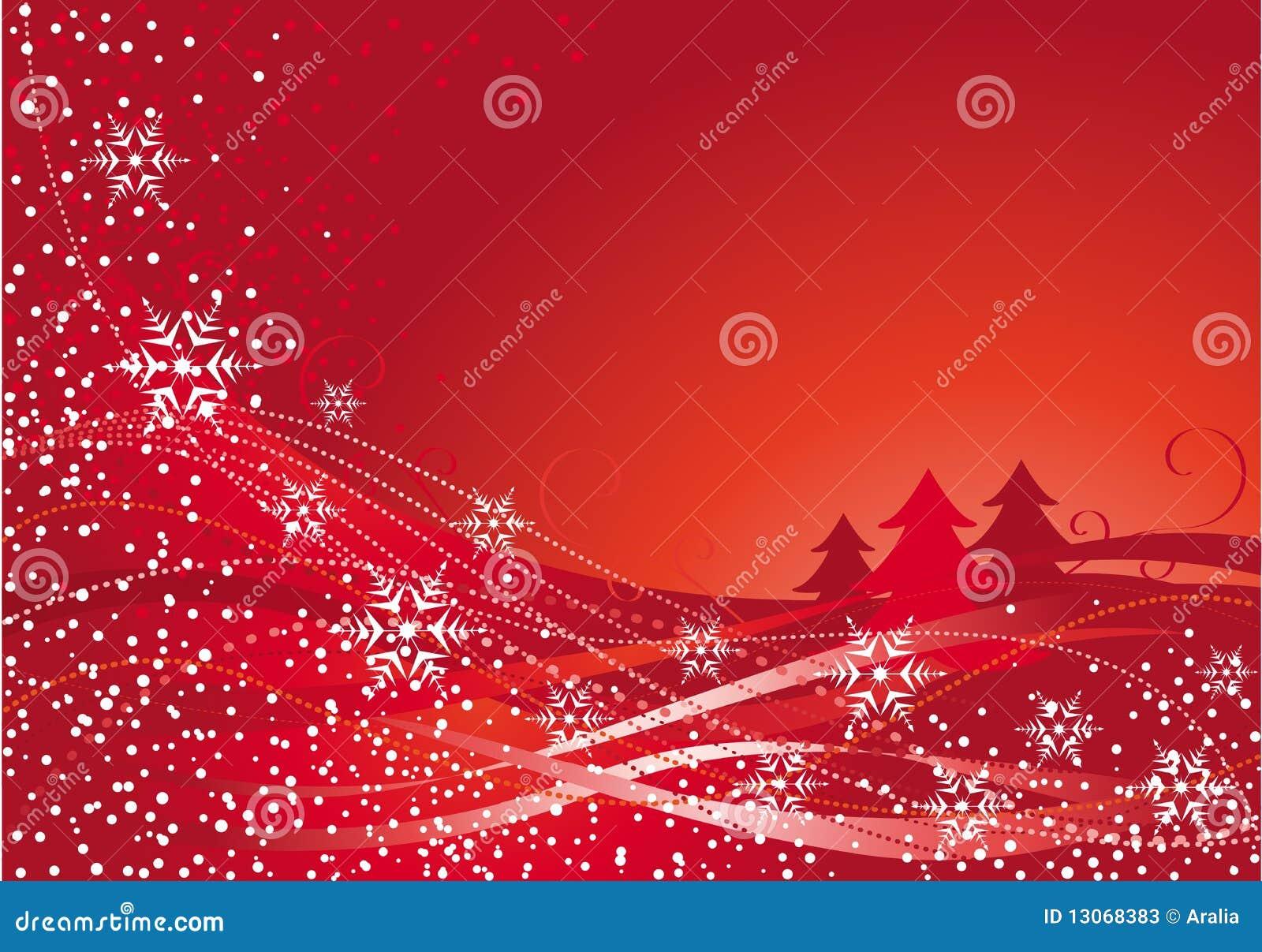 Décoration de Noël et arbre rouge
