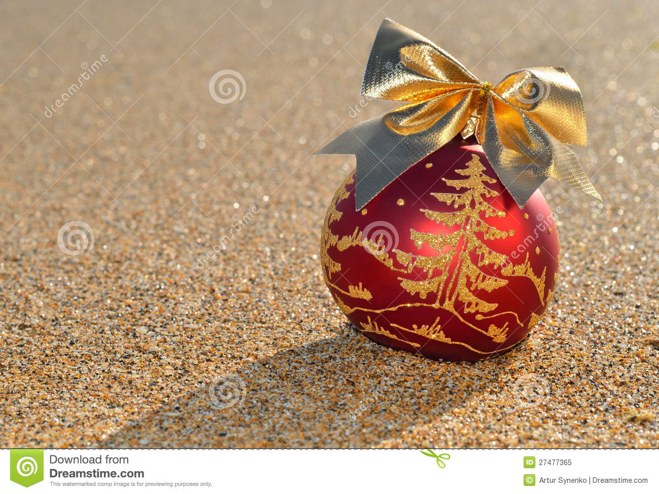 Decoration De Noel Sur Un Sable De Plage Image Stock Image Du