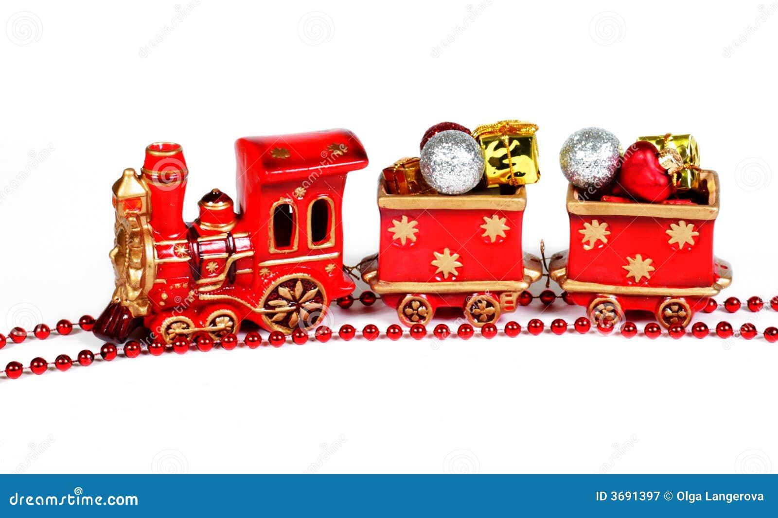 #B91312 Décoration De Noël Train Rouge Photographie Stock Libre  6083 decoration de noel train electrique 1300x883 px @ aertt.com