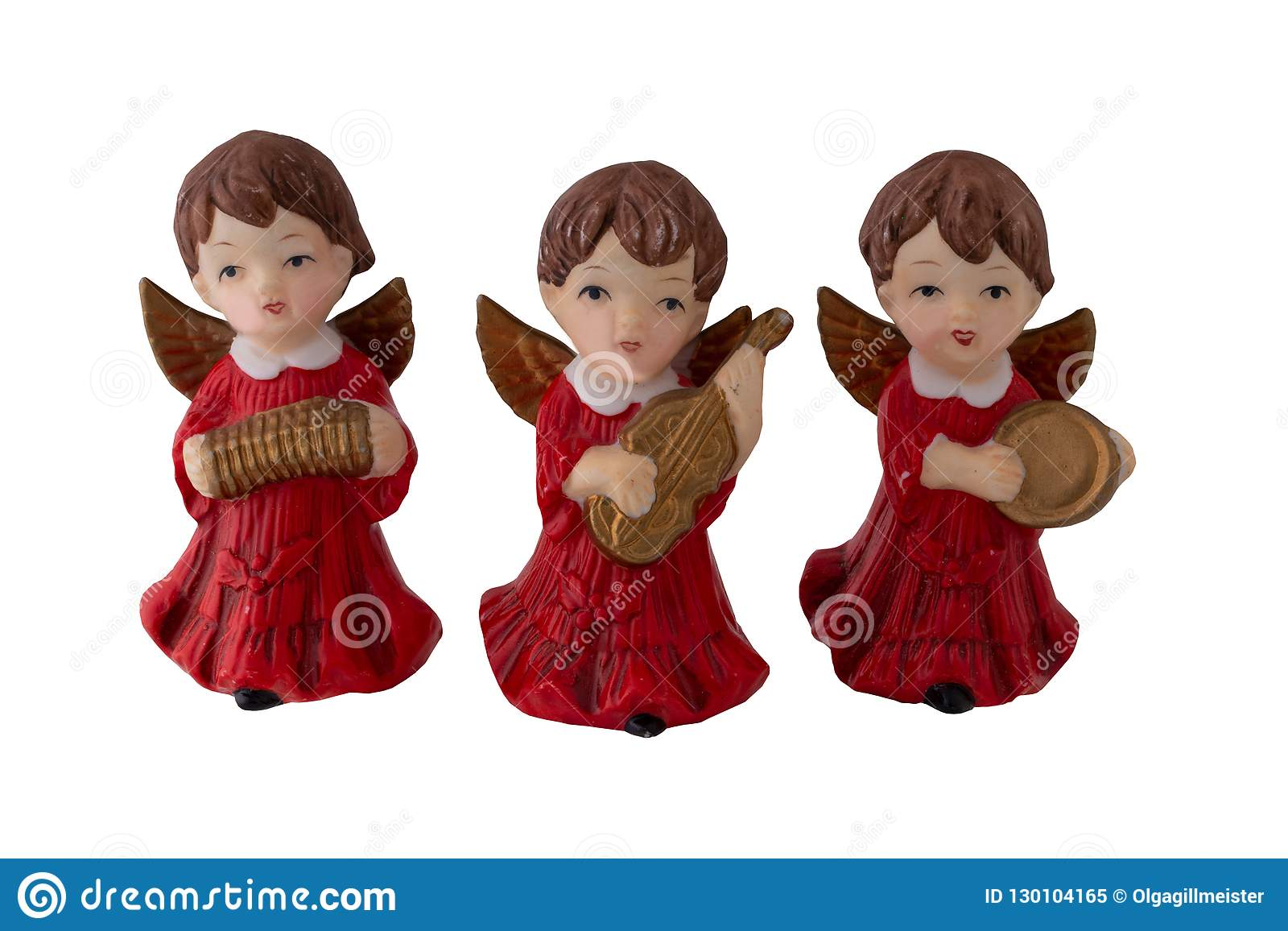Décoration de Noël Trois beaux vieux anges de Noël ont fait