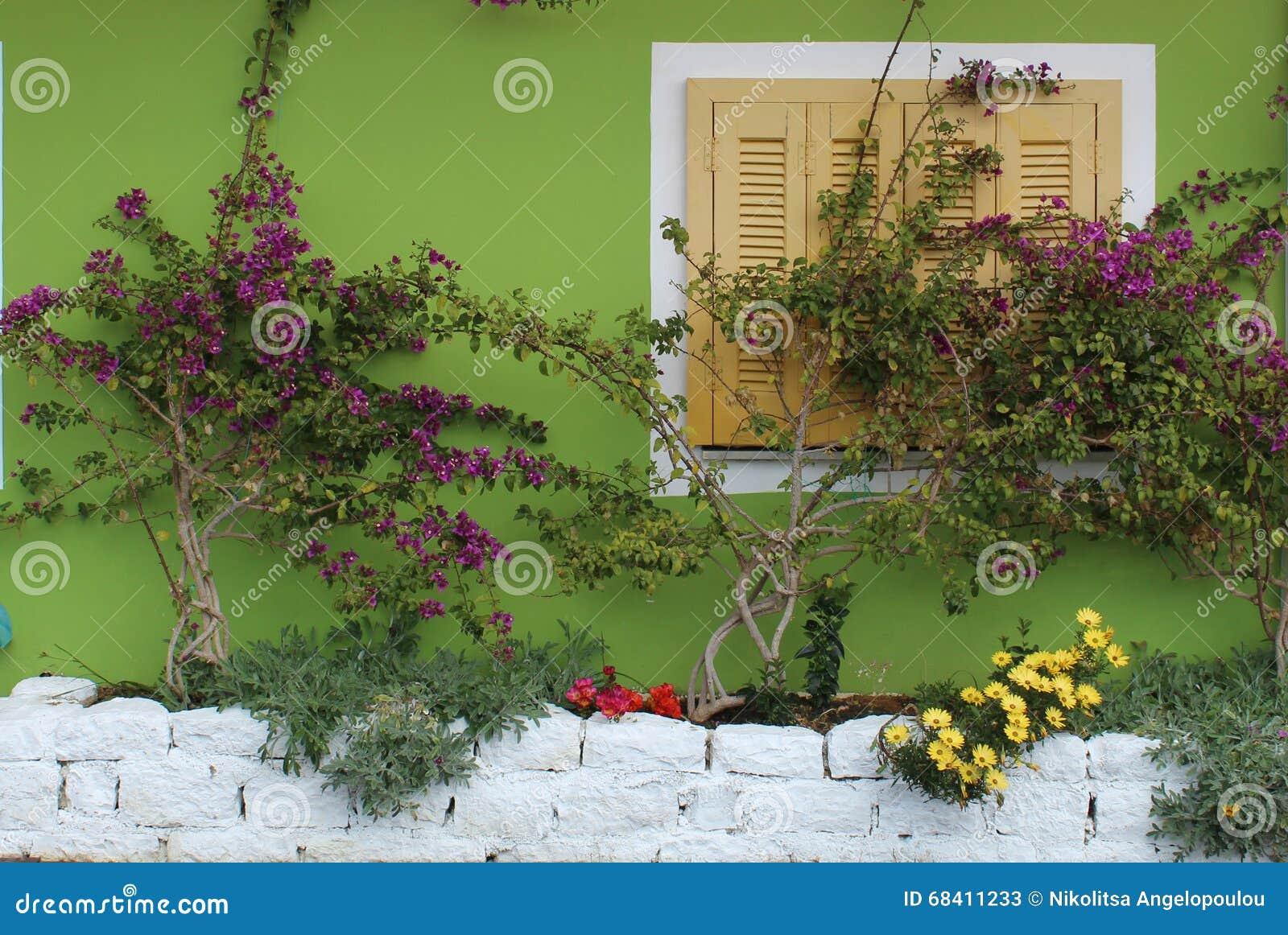 Décoration Du Mur Extérieur Image Stock Image Du Couleur