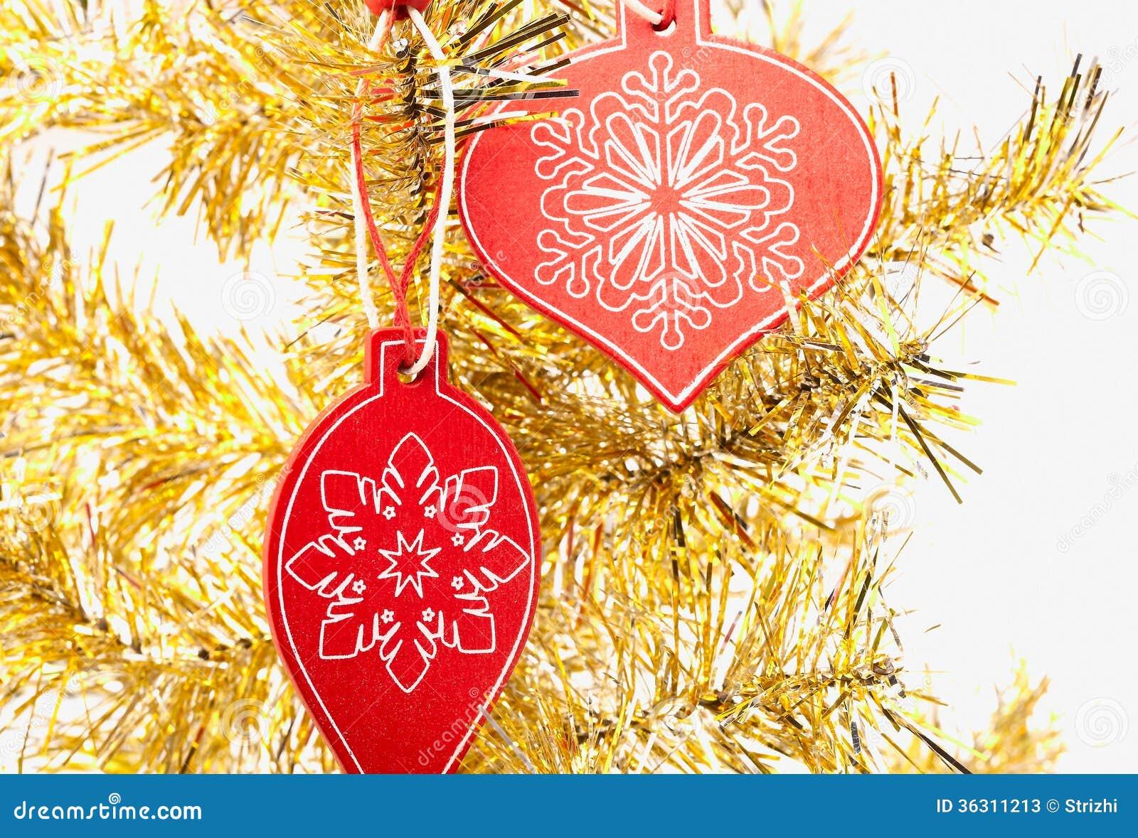 #BD930E Décoration En Bois De Noël Sur L'arbre Jaune Photos Stock  5881 décoration de noel jaune 1300x975 px @ aertt.com