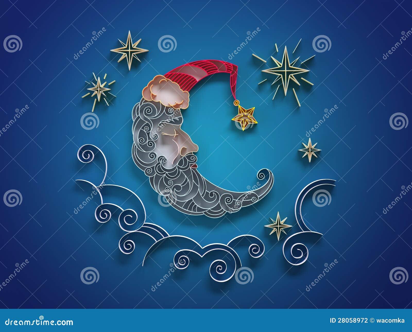 #1F85AC Décoration En Croissant De Sommeil Quilling Photographie  6013 decoration de noel quilling 1300x1065 px @ aertt.com