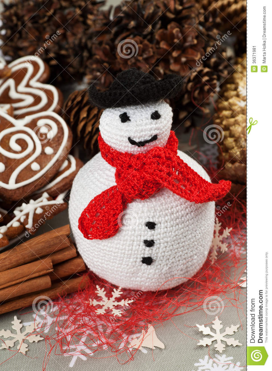 D coration faite maison de crochet de no l image stock - Decoration de noel fait maison ...