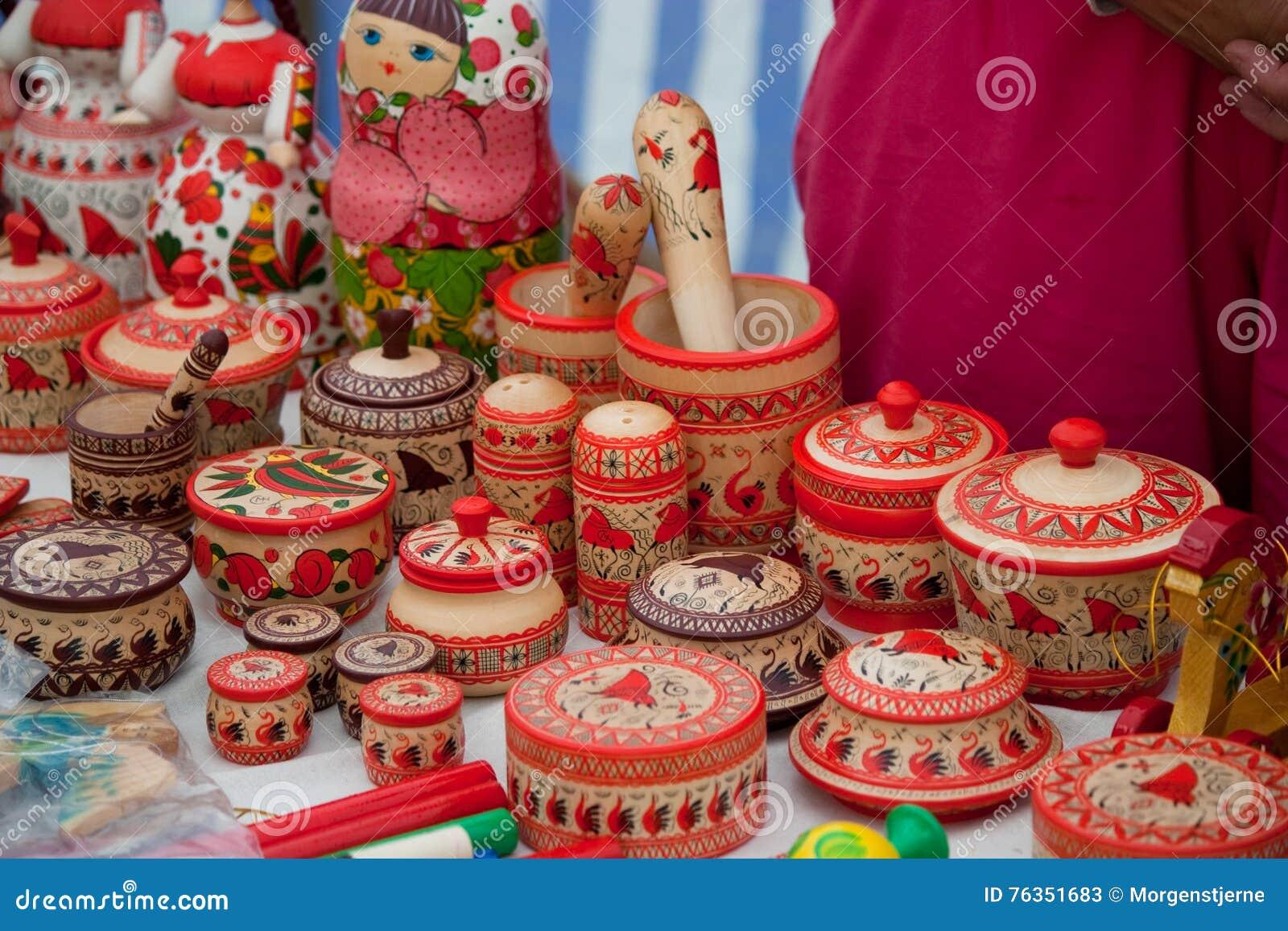 Décoration Folklorique, Conception Russe Nordique De Style Image