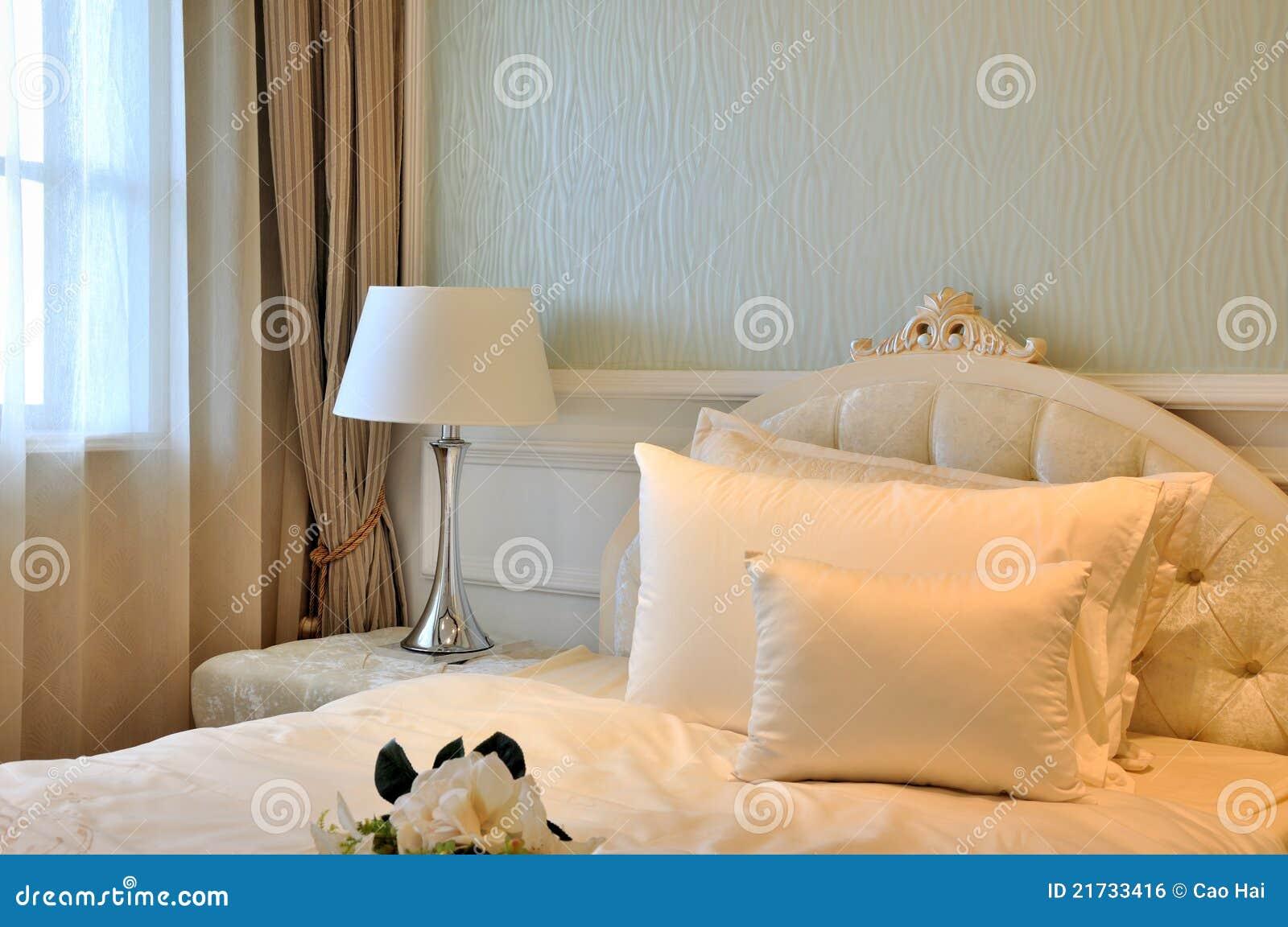 D coration int rieure de chambre coucher l gante dans le blanc image libre - Affiches decoration interieure ...