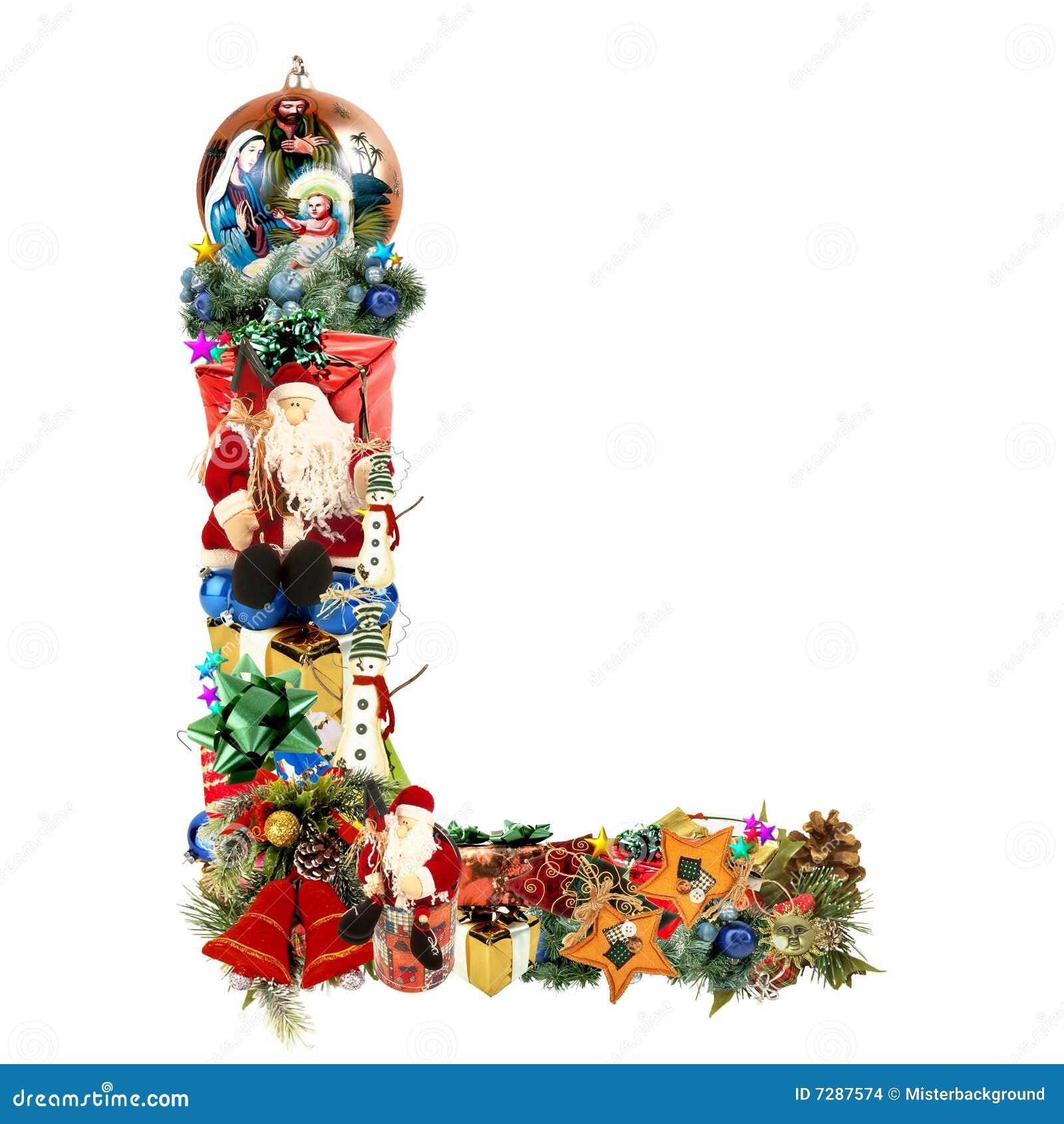 Décoration L Lettre De Noël Illustration Stock