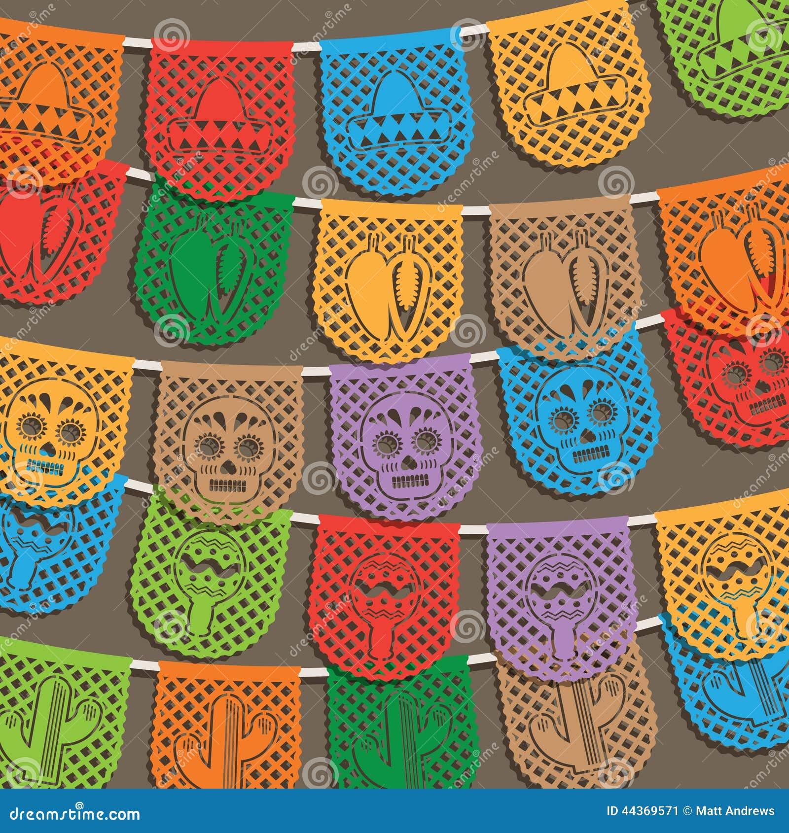 Décoration Mexicaine D'étamine Illustration de Vecteur