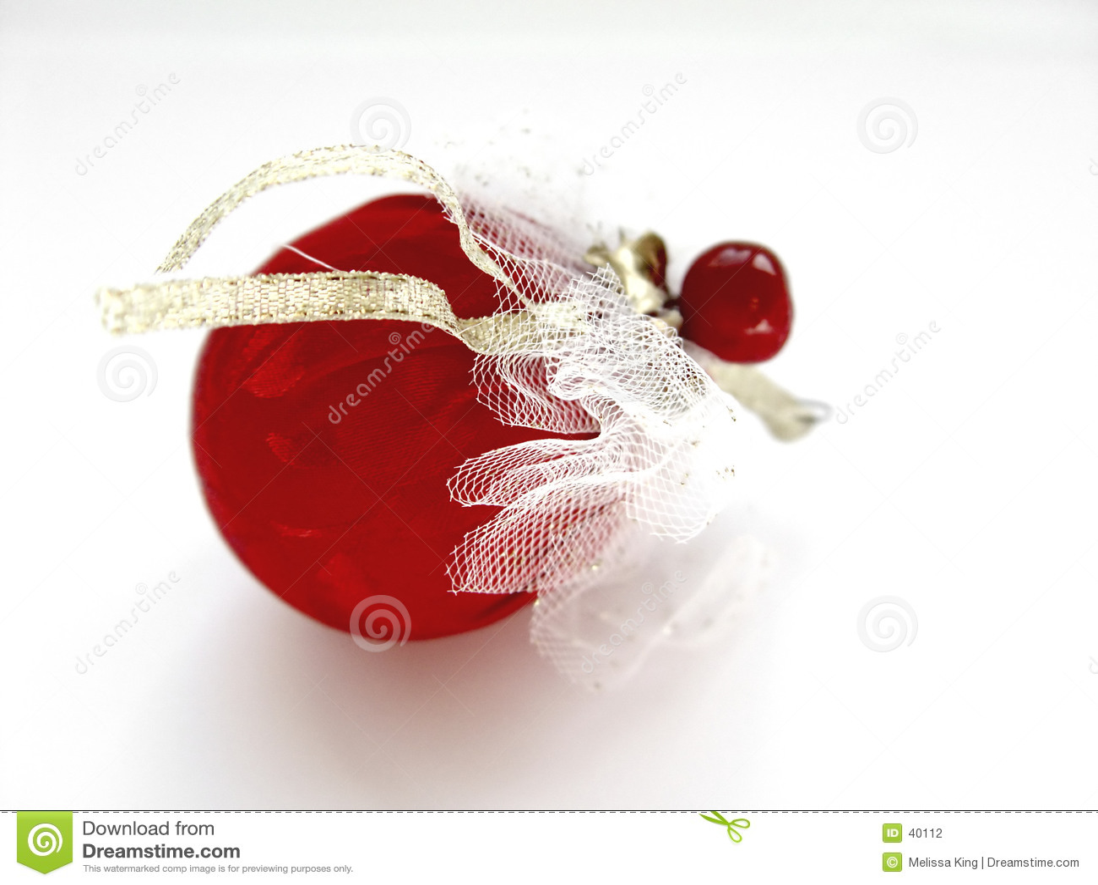 Décoration rouge de Noël