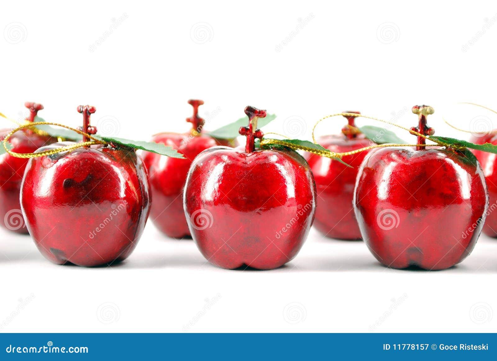 d coration rouge de no l de pomme photographie stock libre de droits image 11778157. Black Bedroom Furniture Sets. Home Design Ideas