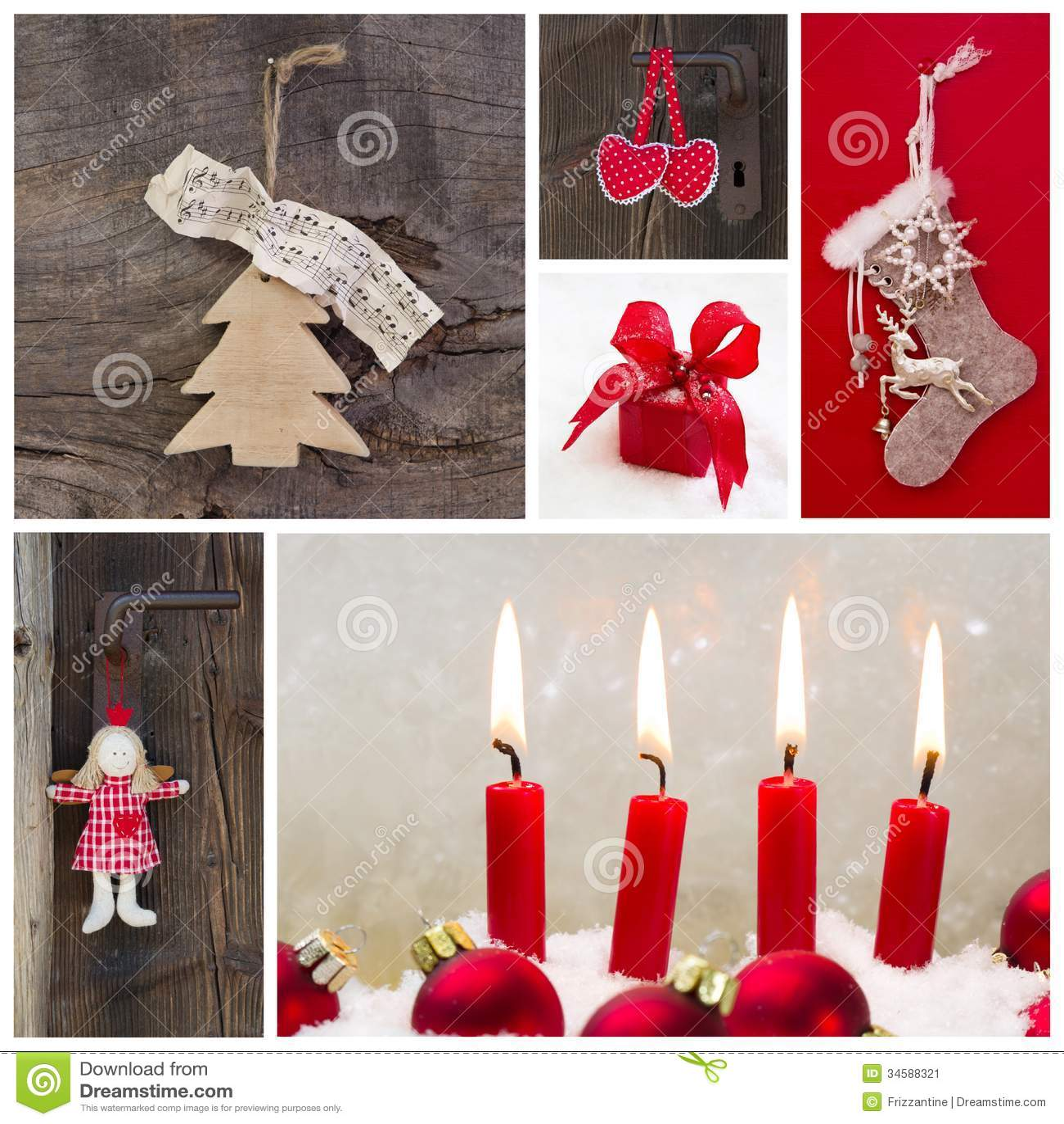 #C1071E Décoration Rustique De Pays Pour Noël En Rouge Et En Bois  6029 decoration de noel rustique 1300x1390 px @ aertt.com