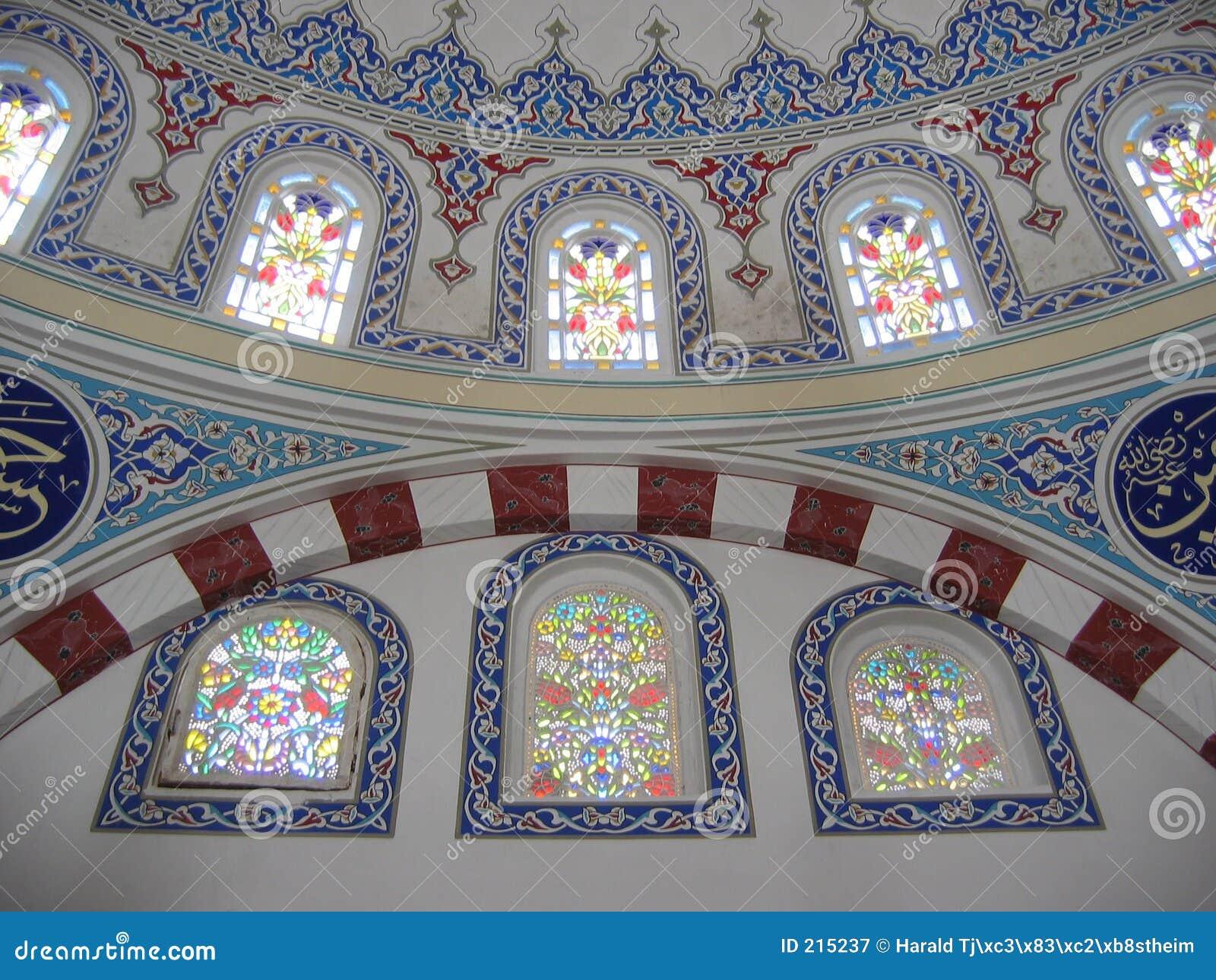 Décoration Sur Des Murs à L\'intérieur D\'une Mosquée Image stock ...