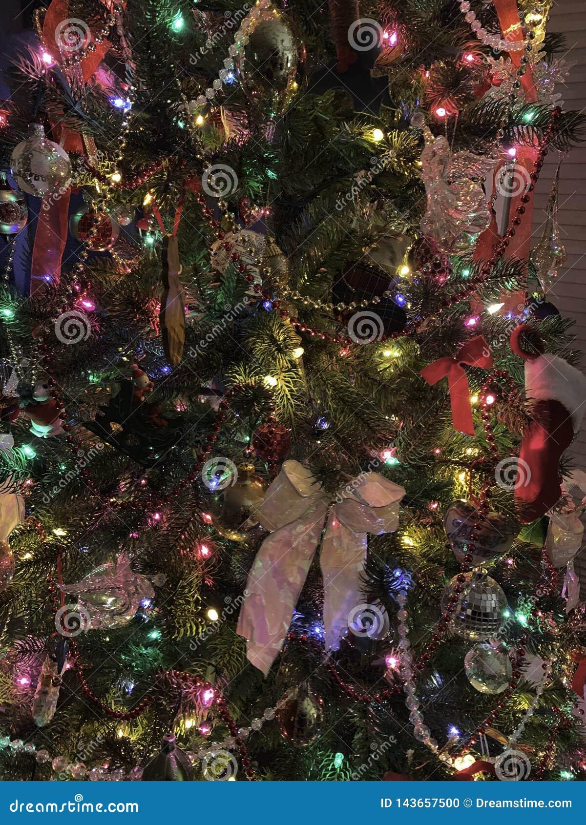 Décorations d arbre de Noël, vacances, couleur