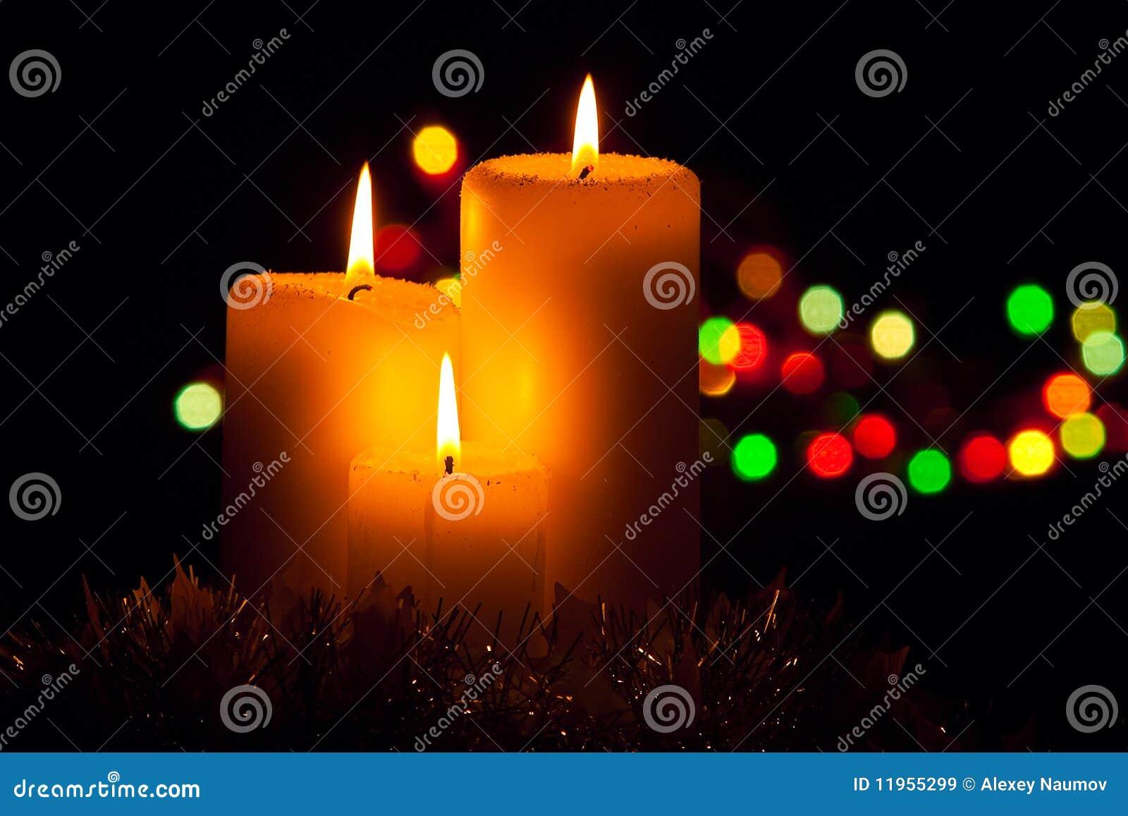 D corations de no l avec des bougies images libres de - Decoration avec des bougies ...