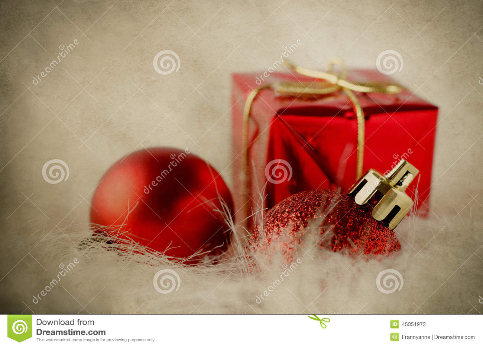 Décorations de Noël sur la fourrure - vintage